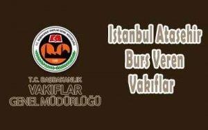 İstanbul Ataşehir Burs Veren Vakıflar