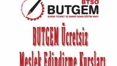 BUTGEM Ücretsiz Meslek Edindirme Kursları Kayıtları