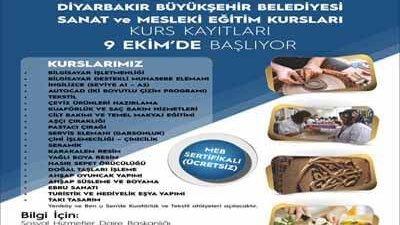 Diyarbakır Belediyesi Ücretsiz Kursları Kayıtları