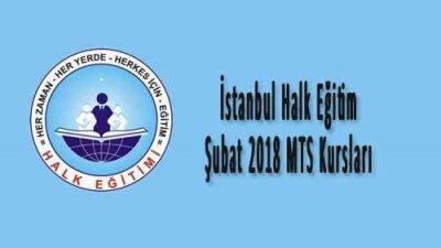 İstanbul Halk Eğitim Şubat 2018 MTS Kursları