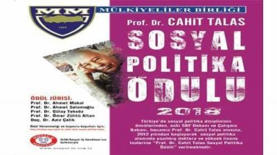 Cahit Talas Sosyal Politika Ödülleri