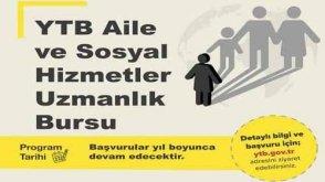 YTB Aile Ve Sosyal Hizmetler Uzmanlık Burs Başvurusu