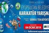 Eyüpsultan Belediyesi Dünya 5'den Büyüktür Karikatür Yarışması