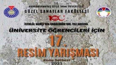 Sütçü İmam Üniversitesi Resim Yarışması