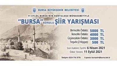 Bursa Belediyesi Bursa Konulu Şiir Yarışması