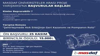 MASDAF Üniversiteler Arası Proje Yarışması