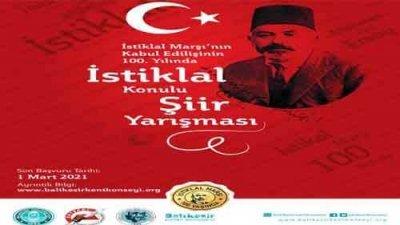 İstiklal Konulu Şiir Yarışması