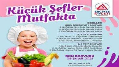 Küçük Şefler Mutfakta Yemek Tarifleri Yarışması