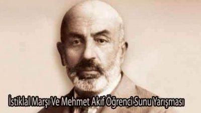 İstiklal Marşı Ve Mehmet Akif Öğrenci Sunu Yarışması