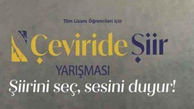 Ankara Bilim Üniversitesi Çeviride Şiir Yarışması