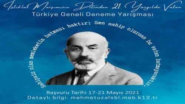 İstiklâl Marşı'mızın Dilinden 21. Yüzyılda Vatan Deneme Yarışması