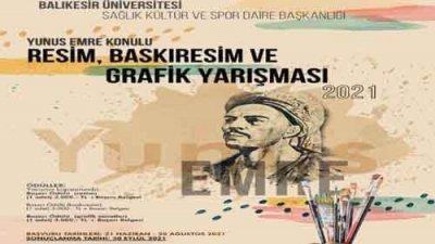 Balıkesir Üniversitesi Resim Baskıresim Ve Grafik Sanatlar Yarışması