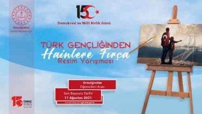 Türk Gençliğinden Hainlere Fırça Resim Yarışması