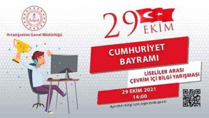 29 Ekim Cumhuriyet Bayramı Liseliler Bilgi Yarışması